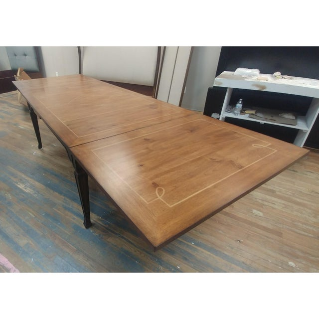 Henredon Henredon Furniture Acquisitions European Refectory Walnut Dining Table For Sale - Image 4 of 11