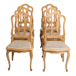 Early 20th Century Oak Dining Chairs- Set of 6 For Sale