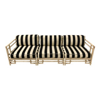 Ficks Reed Chippendale Style Sofa For Sale
