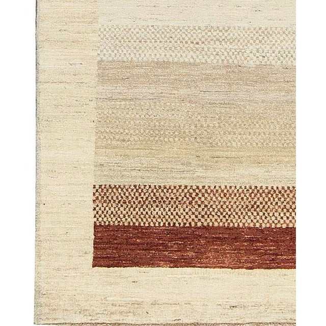 Contemporary Hand Woven Rug - 4'2 X 5'7 - Image 2 of 4