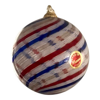 Italian Murano Holiday Ornament For Sale