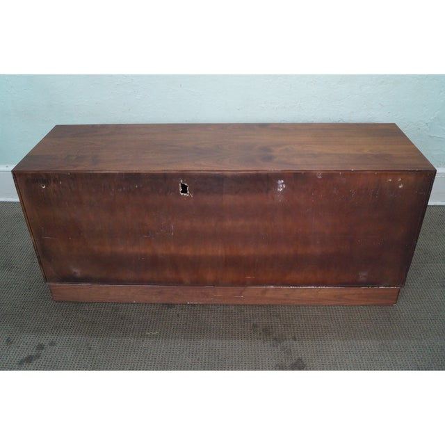 Mid-Century Modern Walnut Cane Door Credenza withDrawers For Sale - Image 4 of 10