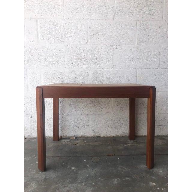 Wood Vintage Mid Century Danish Modern Tile Top Side Table by Uldum Moblerfabrik Denmark For Sale - Image 7 of 13