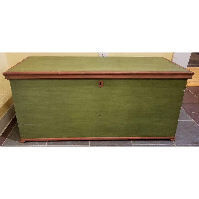19th Century Antique Green Swedish Trunk For Sale - Image 9 of 9