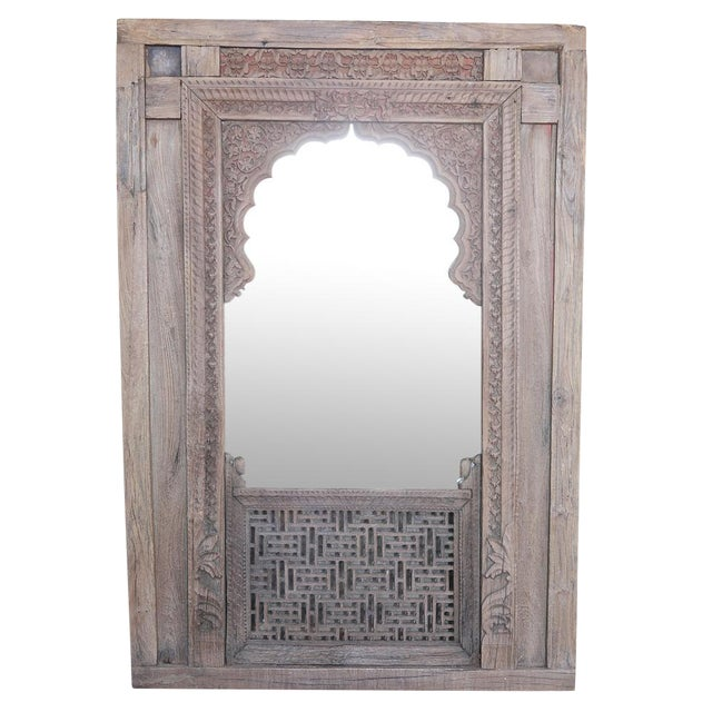 Antique Jarokha Carved Mirror For Sale