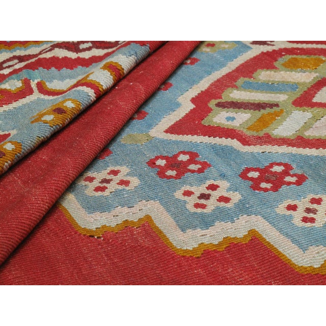 Antique Oushak Kilim - 12′4″ × 14′10″ For Sale In New York - Image 6 of 8
