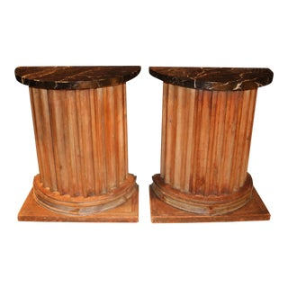 American Classical Column Form Cabinets - a Pair For Sale