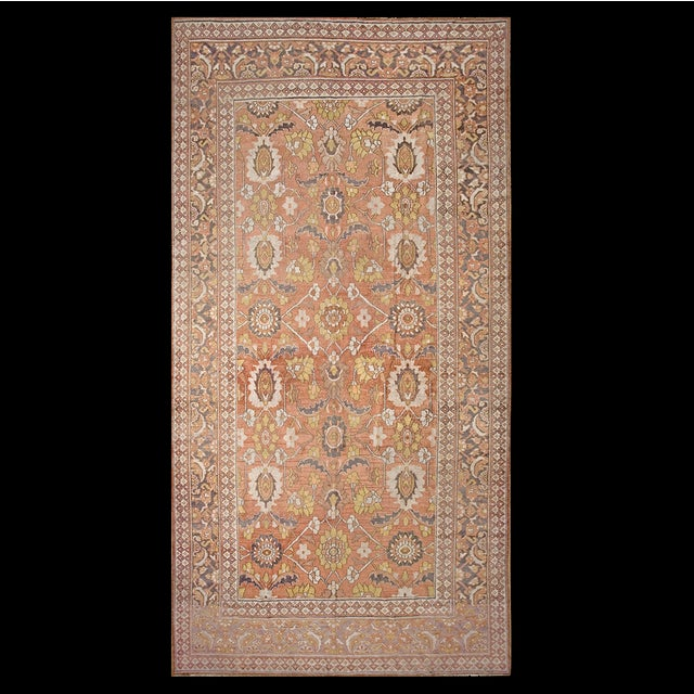 """Antique Moud Rug 8'0"""" X 15'8"""" For Sale - Image 9 of 9"""
