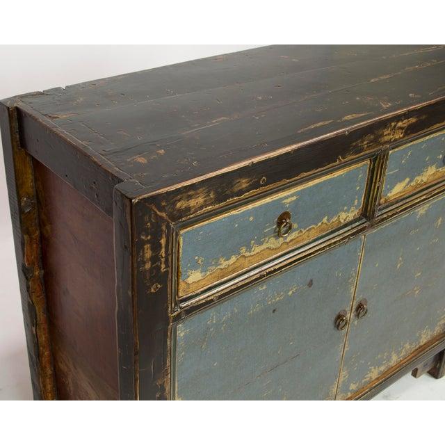 Gansu-Style Blue Antique Cabinet - Image 4 of 5