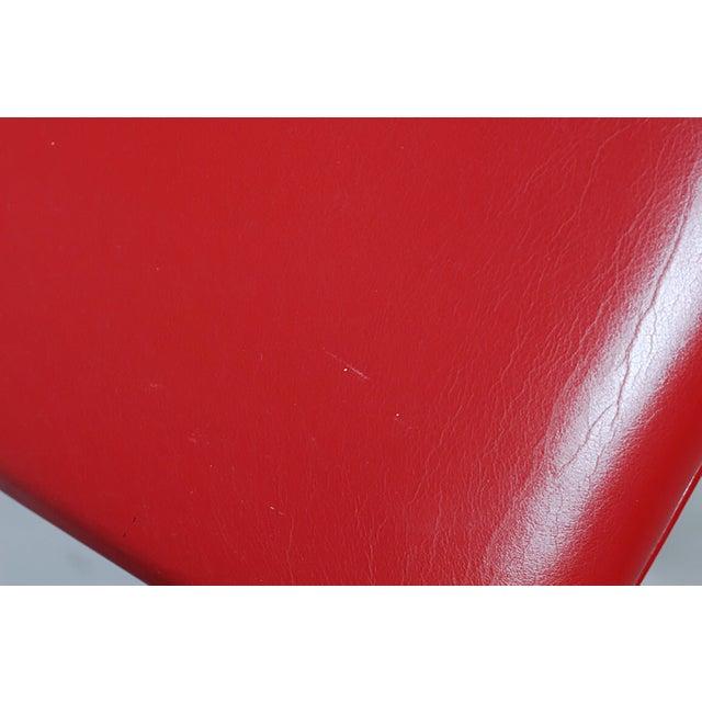 Red Leather Brno Flat Bar Armchair by Gordon International - Image 5 of 7