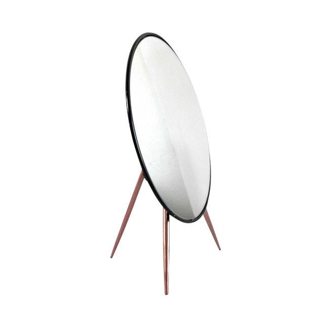 Mid-Century Modern Tripod Tabletop Mirror - Image 1 of 6