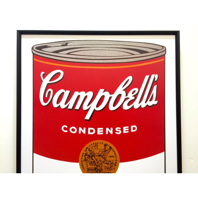 """This Andy Warhol Foundation vintage 2001 large custom framed offset lithograph print iconic Pop Art poster """" Campbell's..."""
