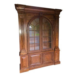 1990s Vintage Baker Furniture Palladian Door Hutch