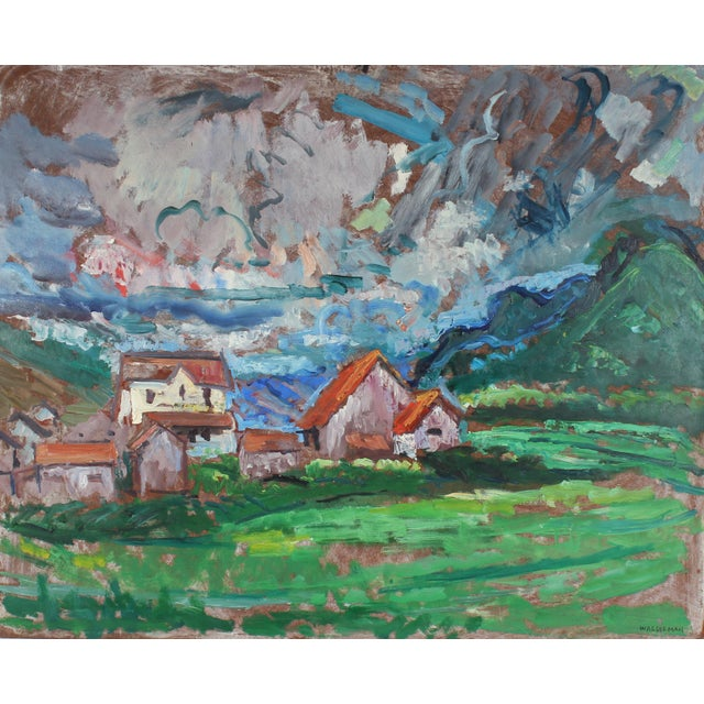 Abstract Expressionism Mid-Century Carmel Countryside Landscape Oil Painting For Sale - Image 3 of 3