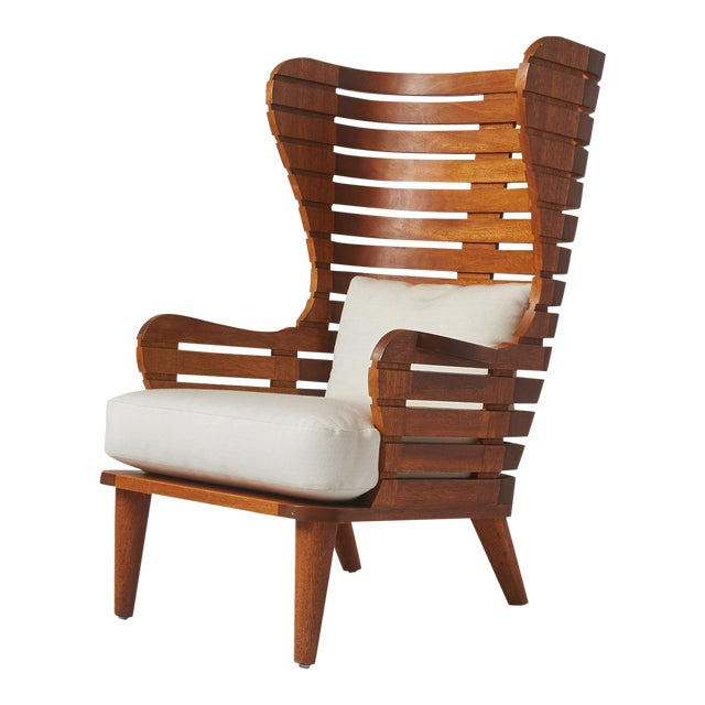 A LINEAR WING CHAIR EXCLUSIVELY FOR ALMOND & CO. For Sale