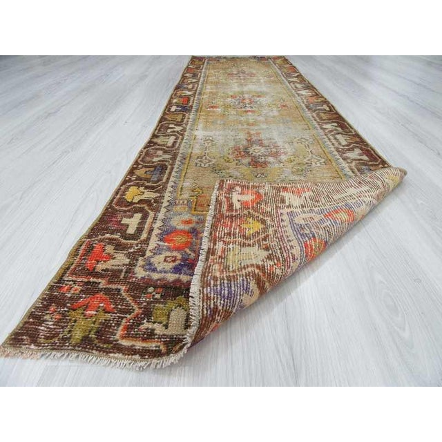Worn Vintage Turkish Runner Rug - 2′6″ × 8′8″ - Image 6 of 6