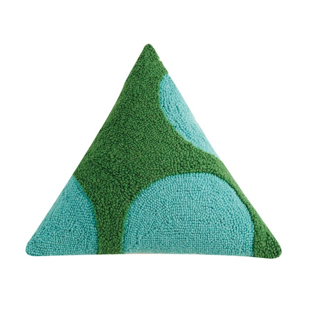 "Contemporary Cool Geometric Triangle Hook Pillow, 18"" x 18"" x 18"" For Sale - Image 3 of 3"