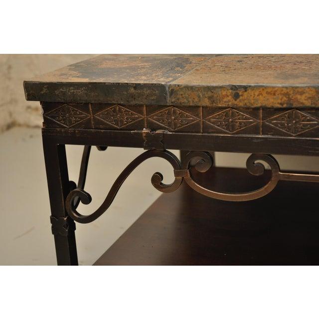 Natural Slate Tile Coffee Table - Image 3 of 4
