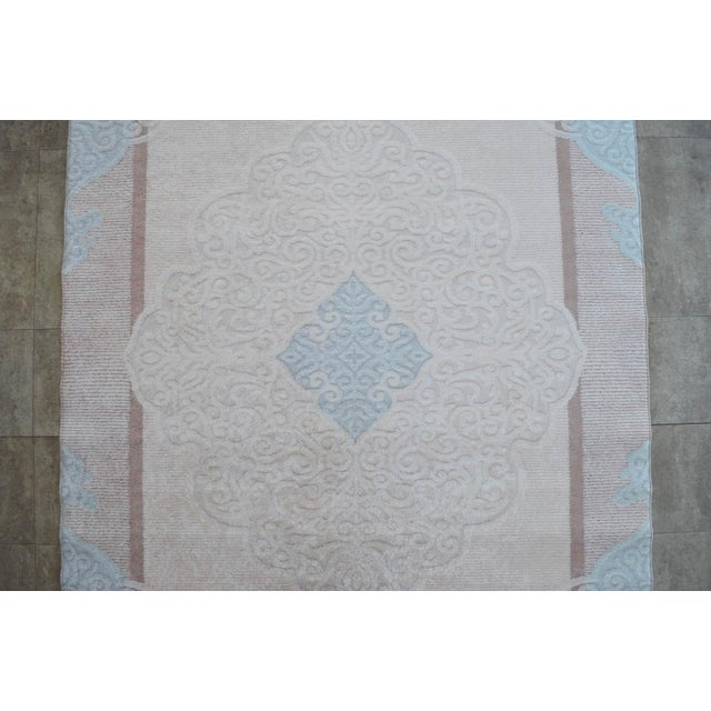 Acrylic Traditional Oushak Pattern Inspired Area Rug - 5′1″ X 7′7″ For Sale - Image 7 of 11