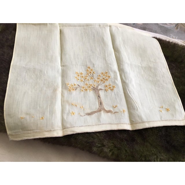 Vintage Embroidered Tree Tea Towel - Image 7 of 10
