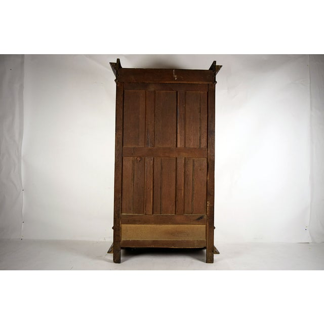 Antique French Single Door Walnut Bookcase For Sale - Image 9 of 9
