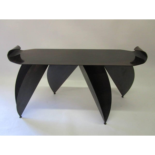 Steel Console Table with Sculptural Legs - Image 4 of 8