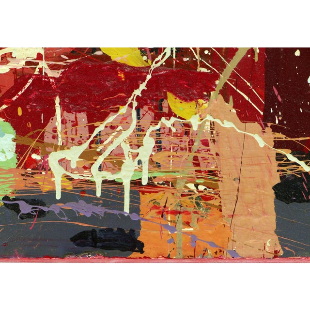 """William P. Montgomery Abstract Mixed Media Painting """"Rocket Science #1"""" For Sale - Image 11 of 13"""