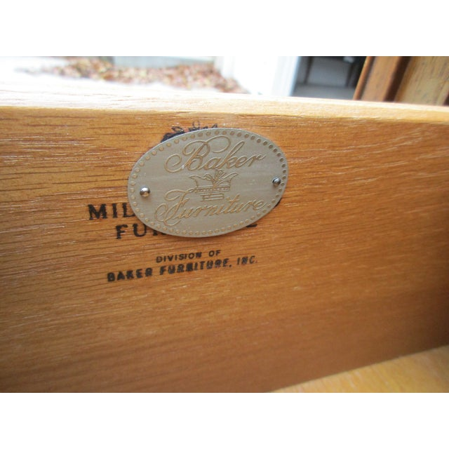 Baker Milling Road Campaign Style Secretary Desk For Sale - Image 11 of 13