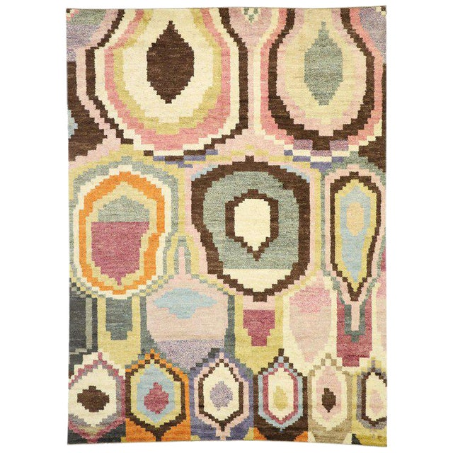 New Contemporary Moroccan Postmodern Style Rug - 10′3″ × 13′11″ For Sale