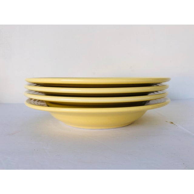 Fiesta Ware Yellow Soup Bowls S-4 For Sale In New York - Image 6 of 6
