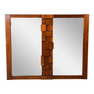Mid Century Brutalist Style Wall Mirror For Sale