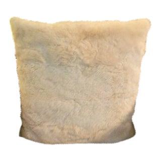 Cream Alpaca Fur Pillow For Sale