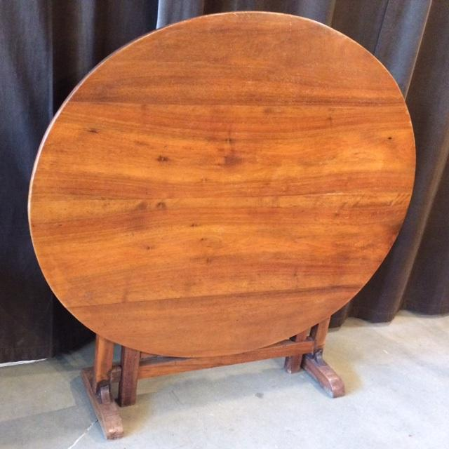 Antique walnut wine tasting table from France. In excellent condition with beautiful patina.