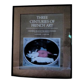 1976 3 Centuries of French Art Poster For Sale