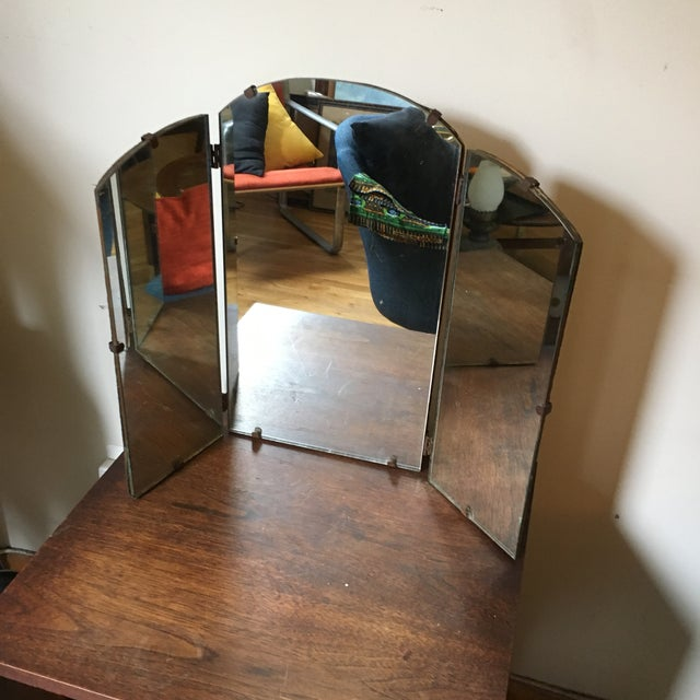 Art Deco Tri-Fold Vanity Mirror For Sale - Image 4 of 7