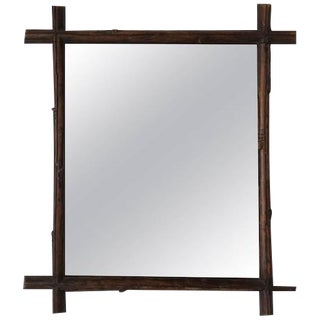 19th Century French Black Forest Mirror
