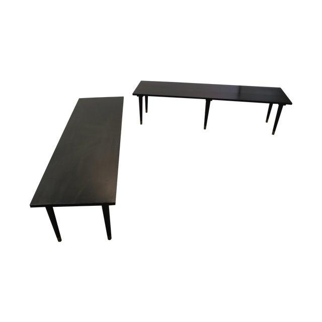 Mid Century Modern Ebonized Coffee Tables - Pair - Image 1 of 11