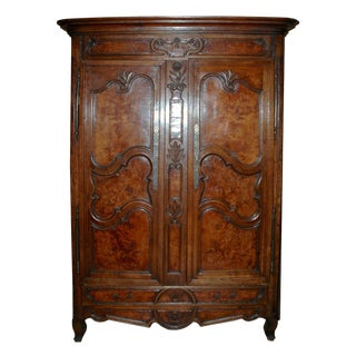 18th Century Vintage Farmhouse French Armoire For Sale