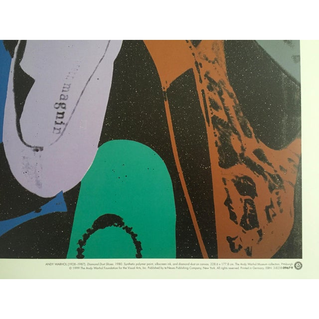 "Blue Andy Warhol ""Diamond Dust Shoes"" Offset Lithograph For Sale - Image 8 of 9"