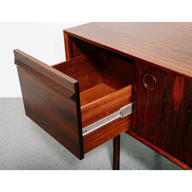 Wood Slim Rosewood Credenza by Haug Snekkeri For Sale - Image 7 of 11