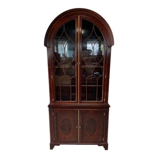 20th Century American Classical Baker Furniture Mahogany Bookcase For Sale