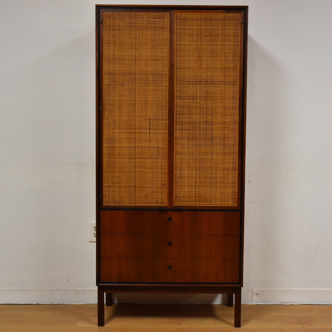 Knoll Walnut Tall Armoire Dresser   Image 2 Of 11