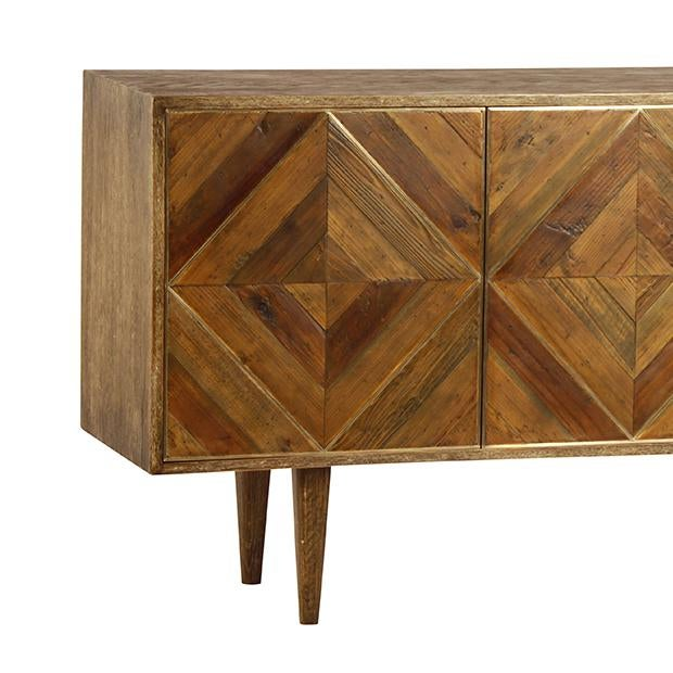 This large sideboard cabinet is the perfect solution for all your storage needs. The mid burnt oak and natural pine wood...
