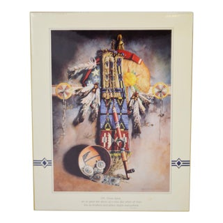 Vintage Native American Indian Prayer Print Lee Ho's Legacy Lisa Lorimer