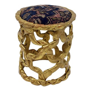 Vintage 'Ribbon' Stool attributed to Tony Duquette For Sale