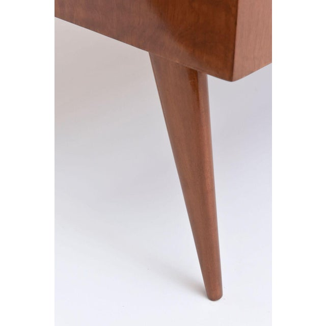 Italian Modern Walnut and Glass Top Two-Tiered Low Table, Paulo Buffa Attributed For Sale - Image 9 of 11