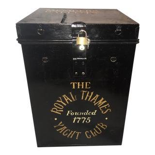 1950s Vintage English Tin Royal Thames Yacht Club Ballot Box For Sale