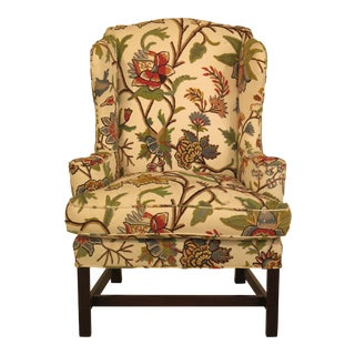 Kittinger Model CW-12 Williamsburg Chippendale Wingback Chair