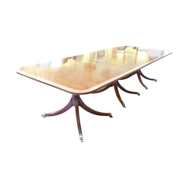 Kittinger Triple Pedestal Mahogany Dining Table - Image 1 of 5