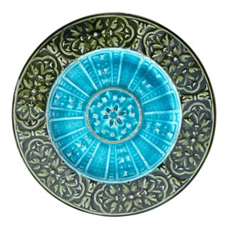 Early 20th Century Antique Schutz Majolica Plate For Sale